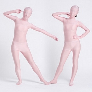 Pink Lycra See-Through  Zentai Suit