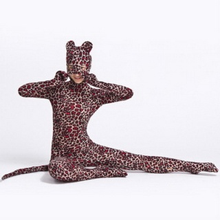 Leopard Lycra Spandex Zentai Suit