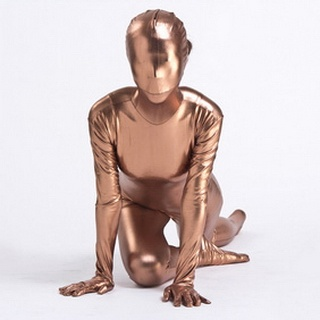 Metallic Monochrome See-Through Zentai Suit