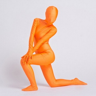 Sexy Orange Lycra Female Zentai Suit