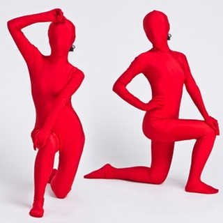 Sexy Red Lycra Female Zentai Suit