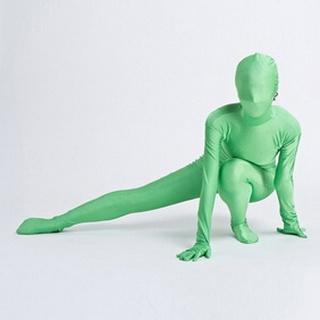 通気 柔らかい セクシー グリーン 緑 ライクラ 全身タイツ