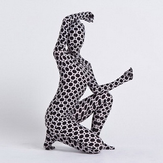 Sexy White&Black Lycra Female Zentai Suit