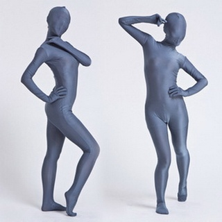 Sexy Blue Lycra Breathable Soft Whole Body  Zentai Suit