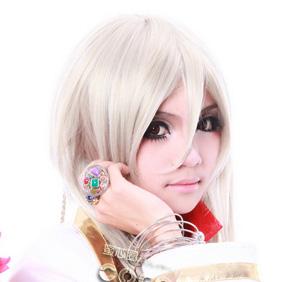 Changan Unreal Night An Bicheng Silver Semi-long Nylon Cosplay Wig