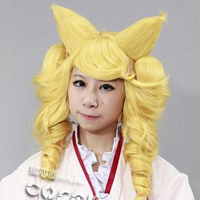 Otome Youkai Zakuro Houzuki、Bonbori Yellow Semi-long Nylon Cosplay Wig