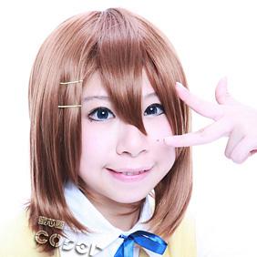 K-ON! Hirasawa Yui Brown  Short Nylon Cosplay Wig