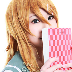 My Little Sister Can\'t Be This Cute Kirino Golden Semi-long Nylon Cosplay Wig