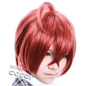 Starry☆Sky Tomoe Yoh Wine Red Short Nylon Cosplay Wig