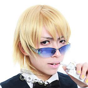 DURARARA!! Heiwajima Shizuo Golden Short Nylon Cosplay Wig