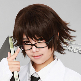 DURARARA!! Kishitani Shinra Brown Short Nylon Cosplay Wig