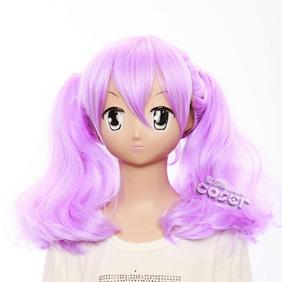 Fractale Nessa Purple Semi-long Nylon Cosplay Wig