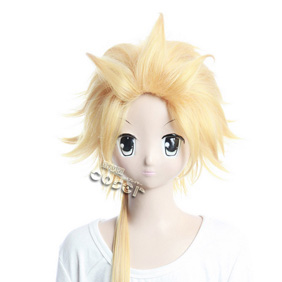 VOCALOID Secret Police Kagamine Ren Golden Long Nylon Cosplay Wig