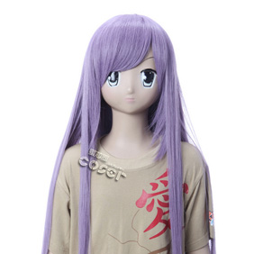 VOCALOID Kakubo Purple 90cm Long Nylon Cosplay Wig
