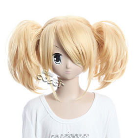 VOCALOID Melt Down Kagamine Rin Golden Short Nylon Cosplay Wig