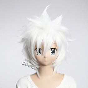 Katekyo Hitman Reborn  Byakuran White  Short Nylon Cosplay Wig