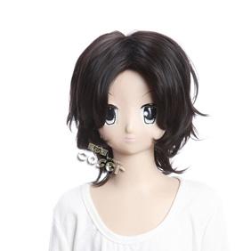 ONE PIECE Ace Black  Short Nylon Cosplay Wig