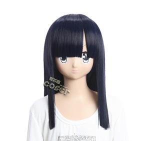 ONE PIECE Robin Black Semi-long Nylon Cosplay Wig
