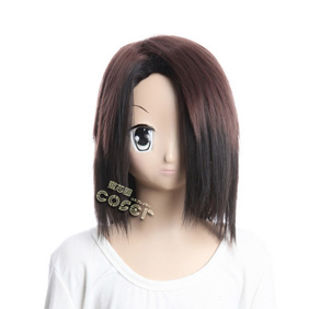 Nurarihyon no Mago Gyuki Brown Semi-long Nylon Cosplay Wig