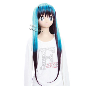 Nurarihyon no Mago Yuki Onna Blue&Purple 65cm Long Nylon Cosplay Wig