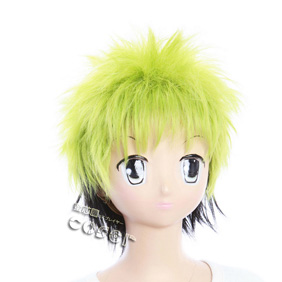 Nurarihyon no Mago Zen Green&Black Short Nylon Cosplay Wig