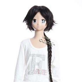 Gujian Baili Tusu Black Long Nylon Cosplay Wig