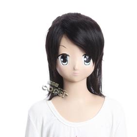 Gujian Fang lansheng Black Semi-long Nylon Cosplay Wig