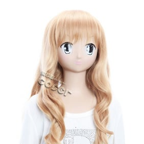 Shugo Chara! Mashiro Rima Golden Long Nylon Wavy Cosplay Wig