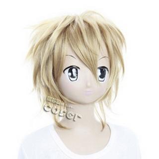 Starry☆Sky Ryunosuke Miyaji Golden Short  Nylon Cosplay Wig