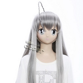 Sneak Nyaru Nyaru Gray Long Nylon Cosplay Wig