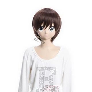 (The World God Only Knows) Katsuragi Keima Brown Short Nylon Cosplay Wig