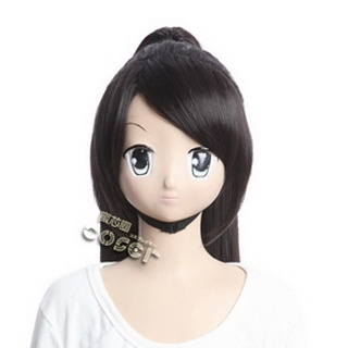 (The World God Only Knows) Eluca Black Long Nylon Cosplay Wig