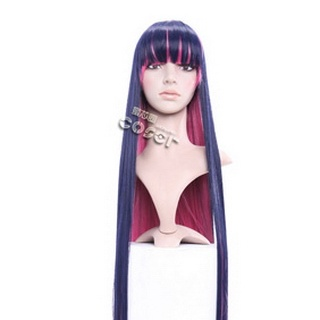Panty & Stocking with Garterbelt Devil Stocking Purple&Pink Long Nylon Straight Cosplay Wig
