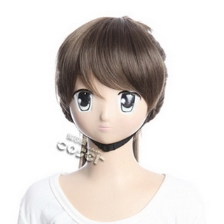 Hakuouki Toudou Heisuke  Brown 80cmLong Nylon Cosplay Wig