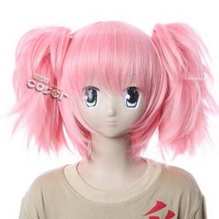 魔法少女まどか☆マギカ 鹿目まどか ピンク 耐熱新素材 ショート コスプレウィッグ