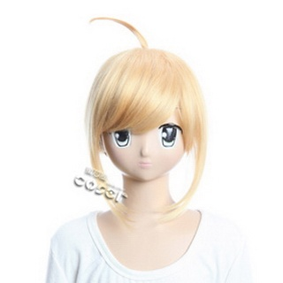 Fate/Stay Night Golden  Semi-long Nylon Cosplay Wig
