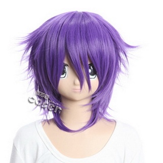 Shiki Yuuki Natsuno Purple  Short Nylon Cosplay Wig