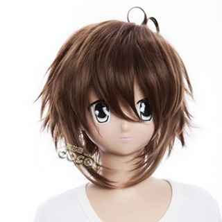 Axis Powers Axis Powers Hetalia Greece Brown  Short Nylon Cosplay Wig