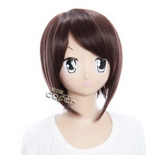 Axis Powers Axis Powers Hetalia Hong Kong Brown  Short Nylon Cosplay Wig