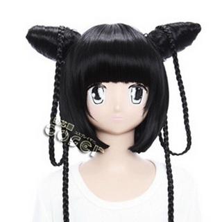 Black Butler Kuroshitsuji Ranmao Black  Long Nylon Cosplay Wig