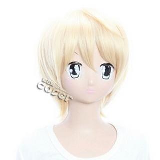 Black Butler Kuroshitsuji Mr.Tanaka Golden Short Nylon Cosplay Wig