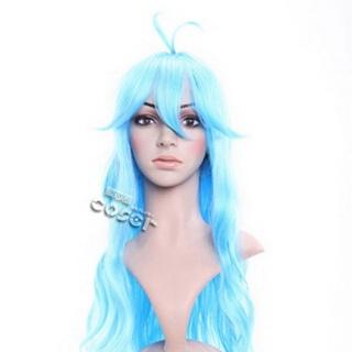 Denpa Onna To Seishun Otoko Touwa Erio Blue Long Nylon Wavy Cosplay Wig