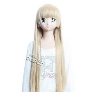 Gosick Detective Story Victora Golden Long Nylon Straight Cosplay Wig