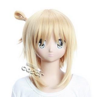 Kore wa Zombie Desu ka?Tomonori Golden Short Nylon Straight Cosplay Wig