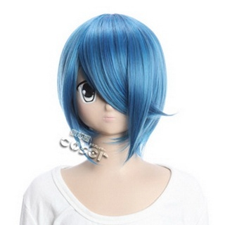 STAR DRIVER Shindou Sugata Blue  Short Nylon Straight Cosplay Wig