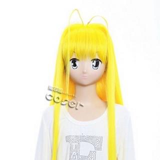 Dragon Crisis! Rose Yellow 90cm Long Nylon Straight Cosplay Wig