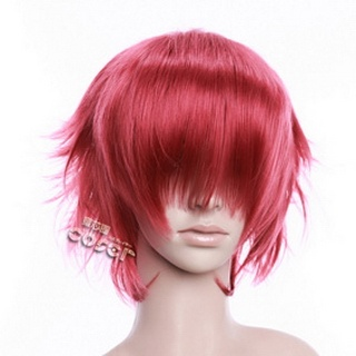 Wine  Red cm Short Nylon Curly Cosplay Wig