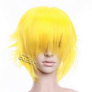Yellow Short Nylon Curly Cosplay Wig