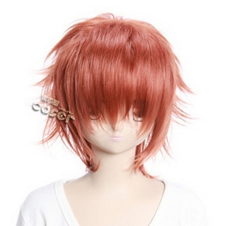 Brown  Short Nylon Curly Cosplay Wig