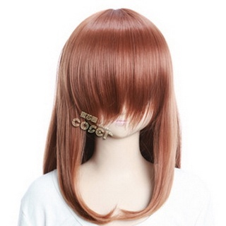 Brown Semi-long Nylon Straight Cosplay Wig